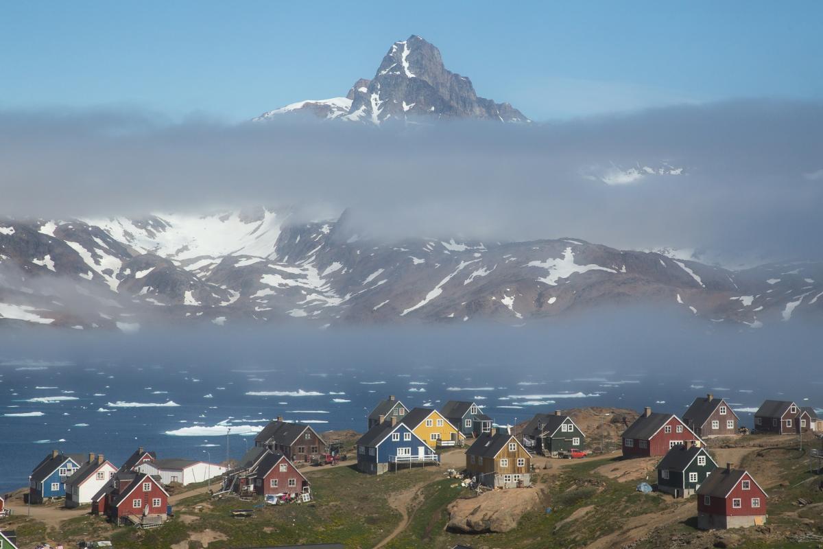 OX/W0GPR Tasiilaq, Greenland. Tourist attractions spot