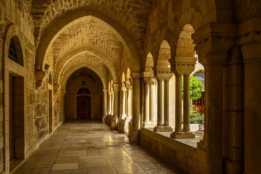 Palestine E44CM DX News Church of the Nativy, Bethlehem.