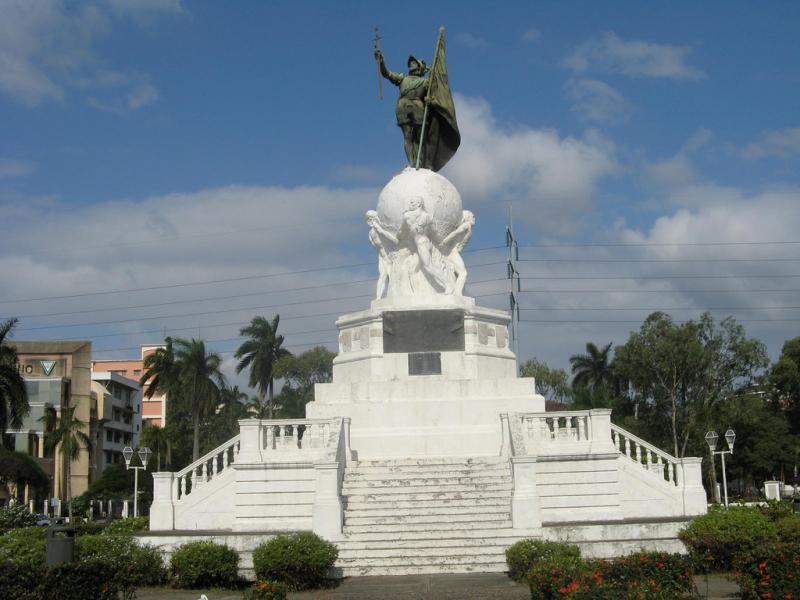 Panama HP3SS Tourist attractions spot Monument Balboa Panama city.