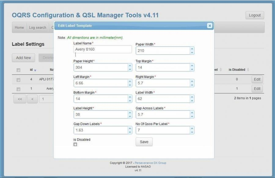PDXG OQRS Configuration and OQRS Manager Tools