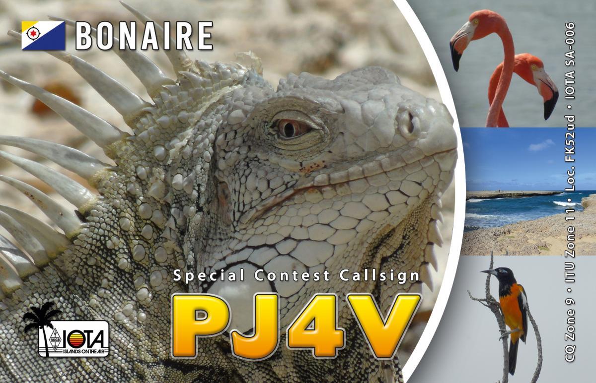 PJ4V Bonaire Island QSL