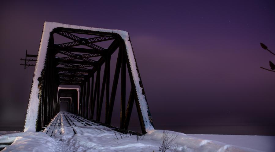 Prince Wales Island Alaska KL7/VE7ACN Bridge Winter