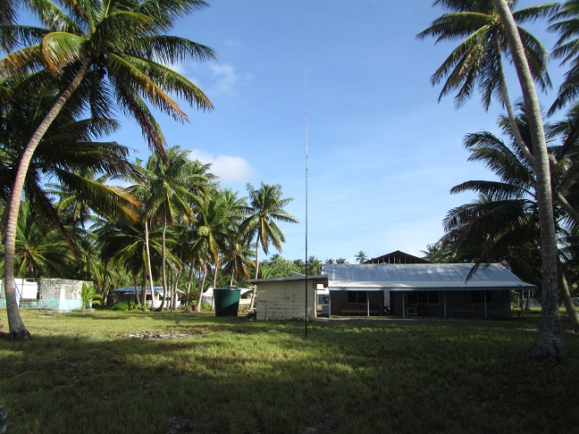 Antenna setup was close to the island administration.