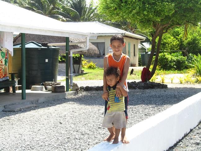 Pukapuka Kids playing around.