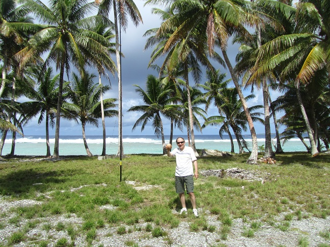Coconut water is delicious. Pukapuka Atoll