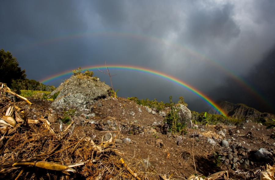 Reunion Island FR/DJ7RJ Tourist attractions spot Rainbow.