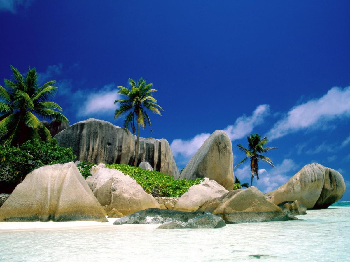 S70VB La Digue Island, Seychelles Tourist attractions spot