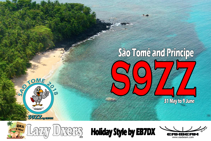 S9ZZ Sao Tome Island, Sao Tome and Principe. Banner.
