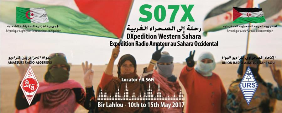Sahrawi Arab Democratic Republic S07X DX Expedition Logo