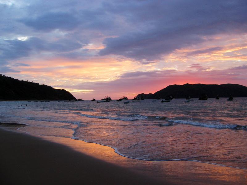 Остров Саланго HD2RRC/4 DX Новости Эквадор Закат