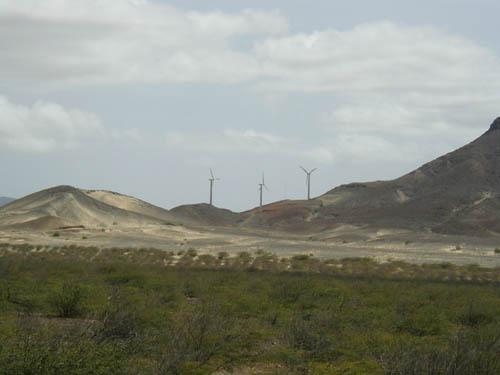 Остров Сан Висенти Кабо Верде Ветряные генераторы