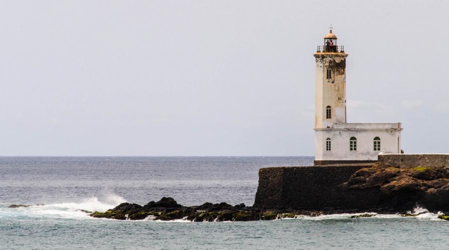 Santiago Island D44TVB Cape Verde Cabo Verde Lighthouse, Praia.
