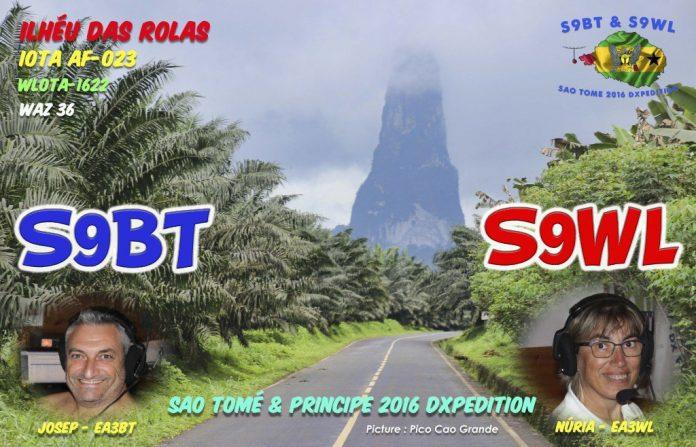 Sao Tome Island Sao Tome and Principe S9BT S9WL QSL