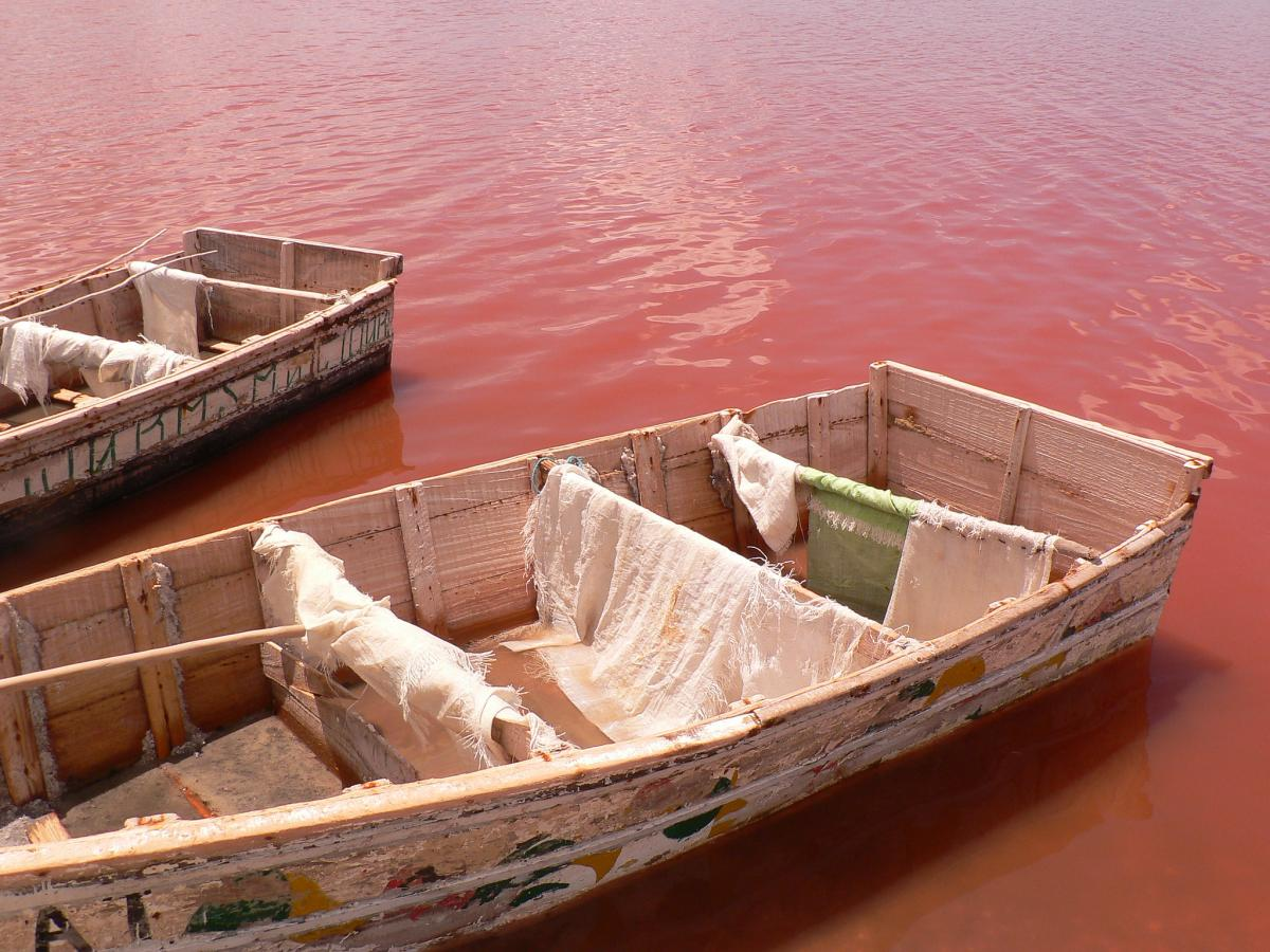 Сенегал 6V/DC4CQ Туристические достопримечательности Розовое озеро