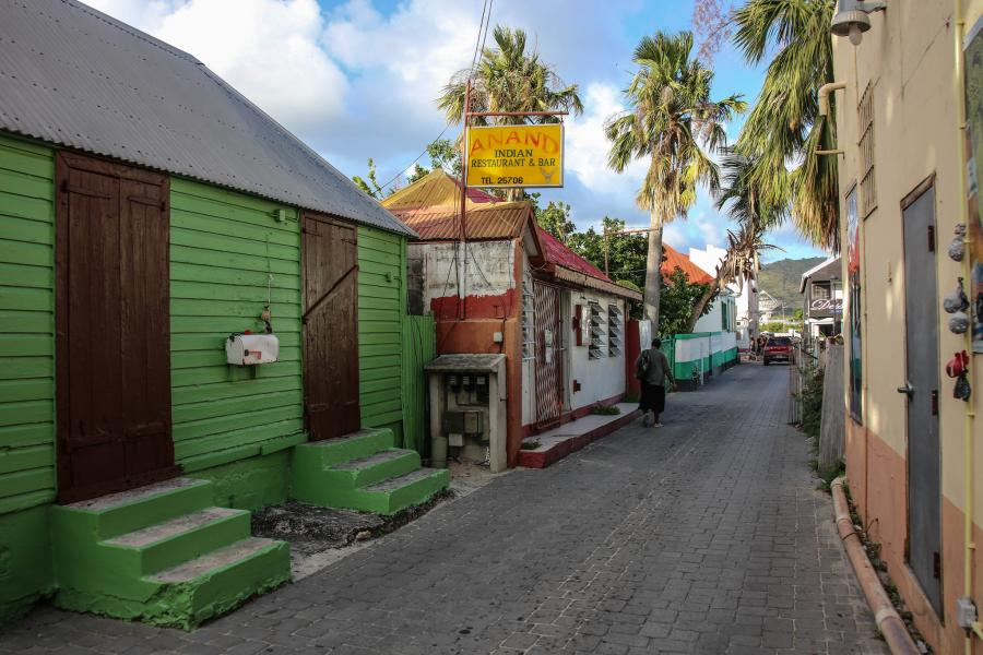 Sint Maarten PJ7/HB9FLX Tourist attractions spot Anand Indian Restaurant.