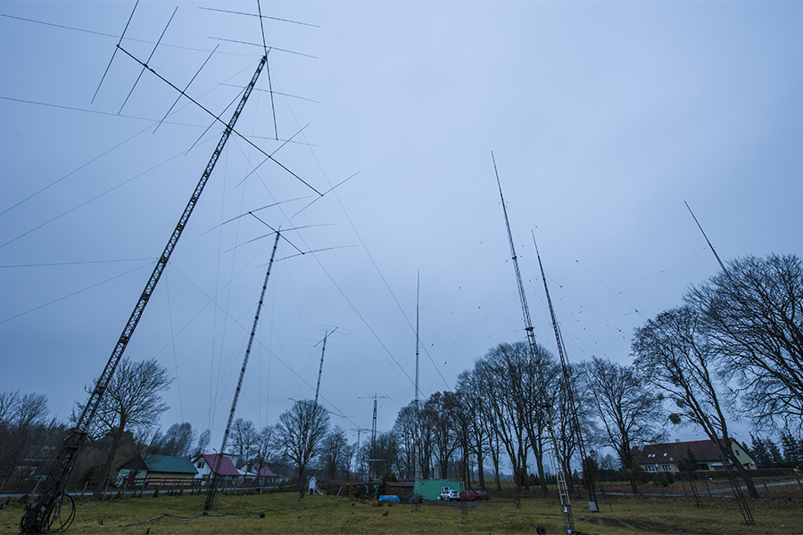 SO4M Poland Amateur Radio Contest Station Antenna farm