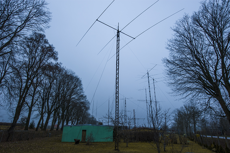 SO4M Amateur Radio Contest station Poland Green hut Radio Shack