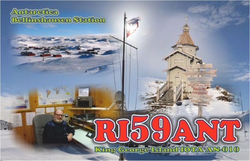 Bellinghausen Base RI59ANT South Shetland Islands King George Island QSL