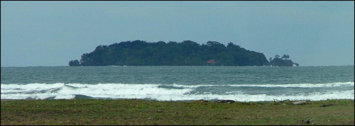 TE6DX Uvita Island, Costa Rica. Tourist attractions spot
