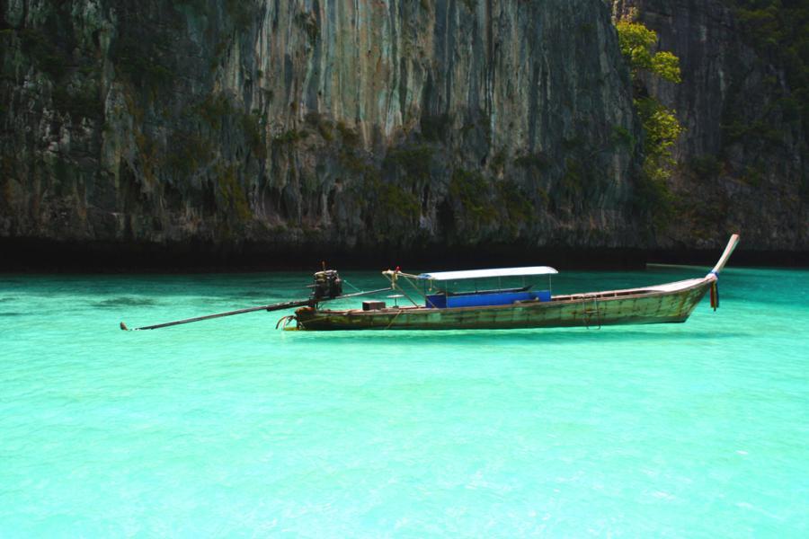 Thailand E2A Tourist attractions spot Ko Phi Phi Island.