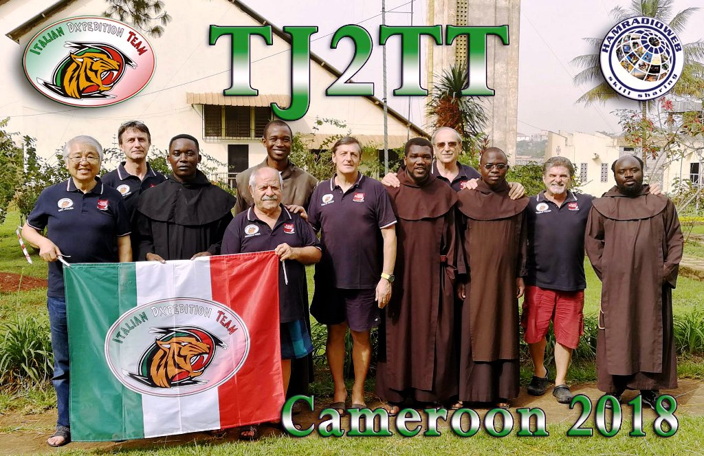 TJ2TT Cameroon DX Pedition QSL Card