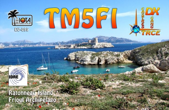 TM5FI Остров Ратоно, Фриульские острова (острова Спокойствия). QSL.