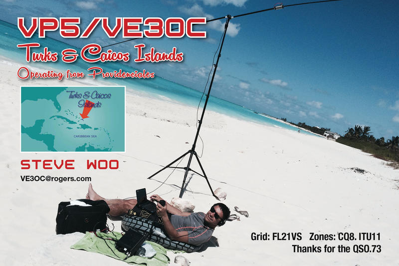 Turks and Caicos Islands VP5/VE3OC QSL 2017
