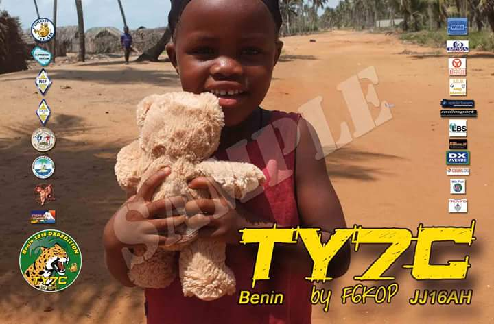 TY7C Benin DX Pedition QSL Card
