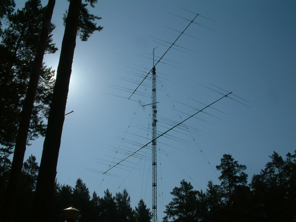 UA9CLB R9DX Stacked yagi antennas