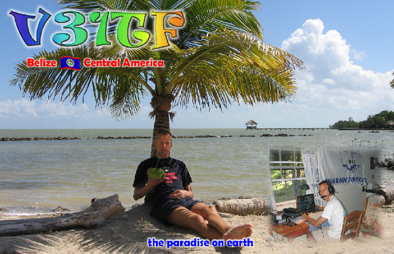 V31TF Belize QSL