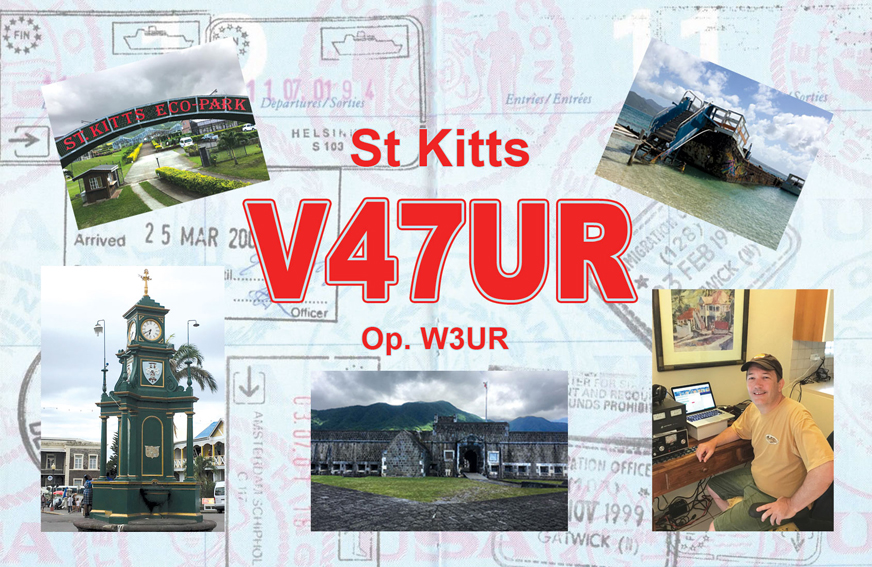 V47UR Saint Kitts Island QSL