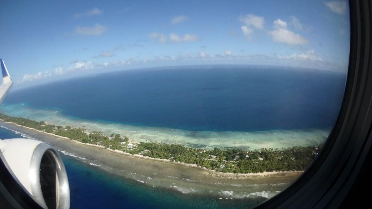 V73MT Landing, Marshall Islands International Airport, Majuro Atoll, Marshall Islands.