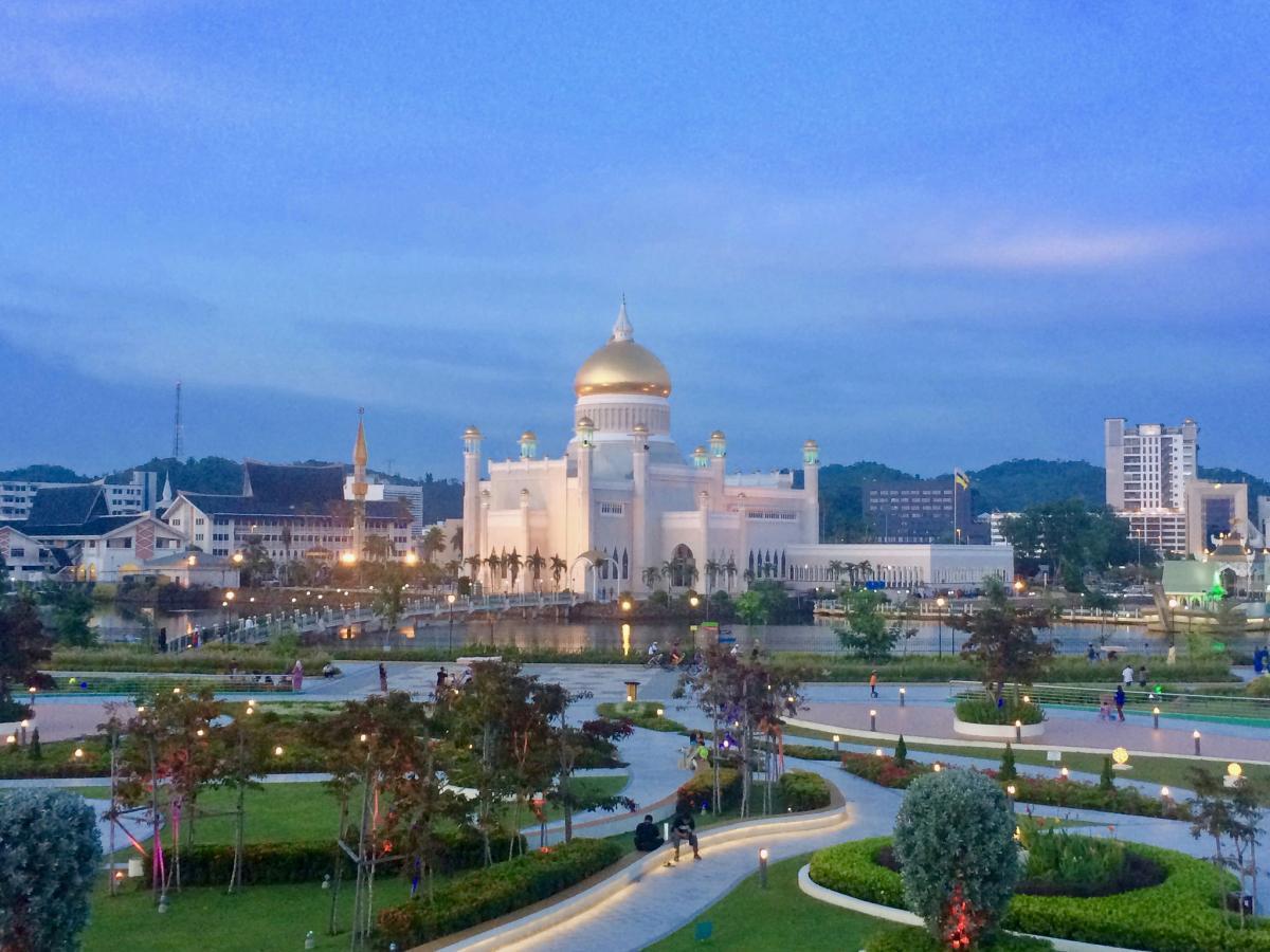 V84SAA Бруней Туристические достопримечательности