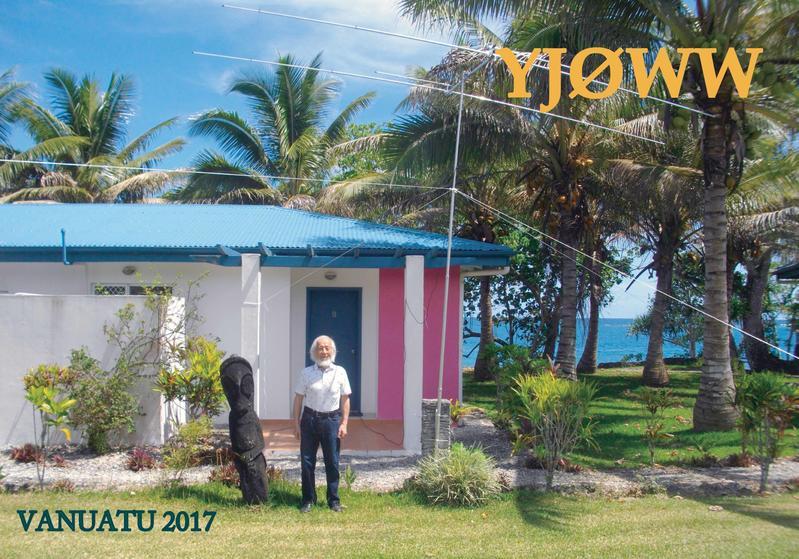 Остров Эфате Вануату YJ0WW QSL