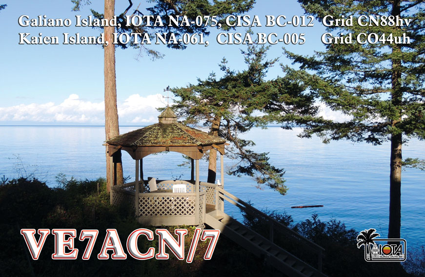 VE7ACN Galiano Island QSL