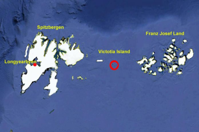Victoria Island RI1F Franz Josef Land Map