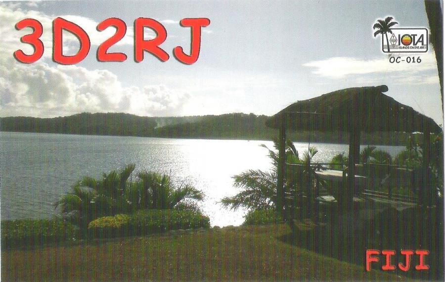 Viti Levu Island Fiji 3D2RJ QSL