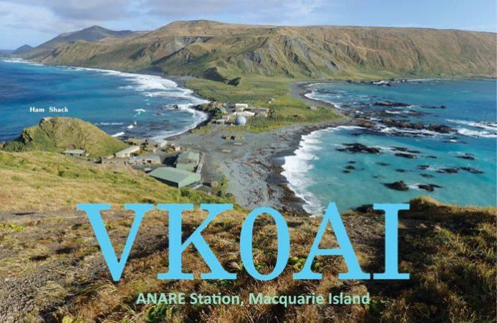 VK0AI ANARE Station, Macquarie Island. QSL Card