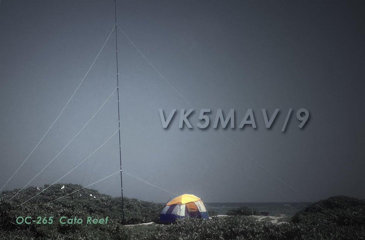 VK5MAV/9 Cato Reef QSL Card