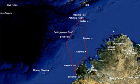 VK9AR Ashmore Reef Article Map