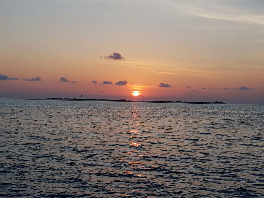 VK9AR Sunset on Ashmore Reef, departing for Browse Island next morning
