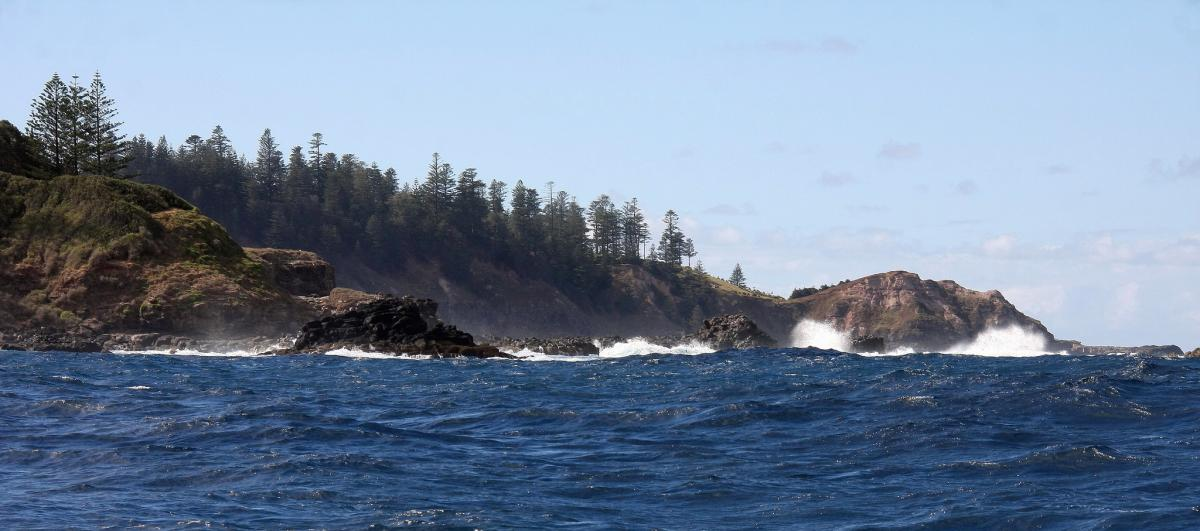 VK9/M0VFC Rocky Point and Point Ross, Norfolk Island, Australia. Tourist attractions spot
