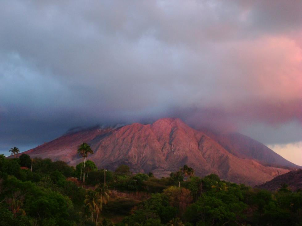 VP2MMX Вулкан Остров Монтсеррат Туристические достопримечательности
