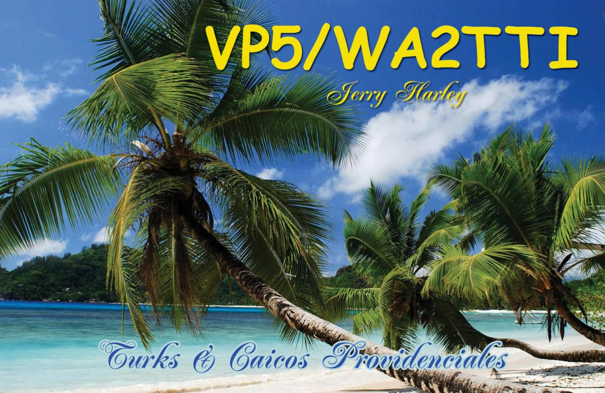 VP5/WA2TTI Providenciales Island, Turks and Caicos QSL