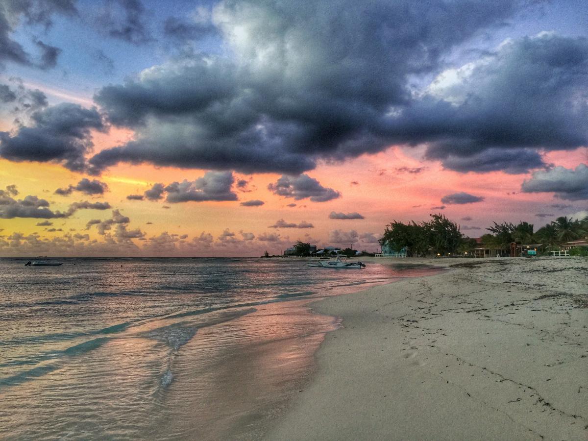 VP5/N9EAJ Grand Turk Island, Turks and Caicos Islands. Sunset. Tourist attractions spot.