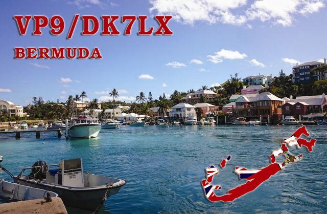 VP9/DK7LX Бермудские острова QSL