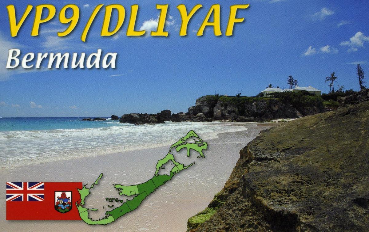 VP9/DL1YAF Бермудские острова QSL