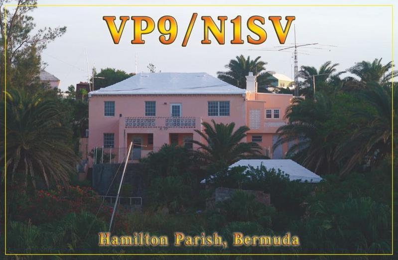 VP9/N1SV Бермудские острова QSL