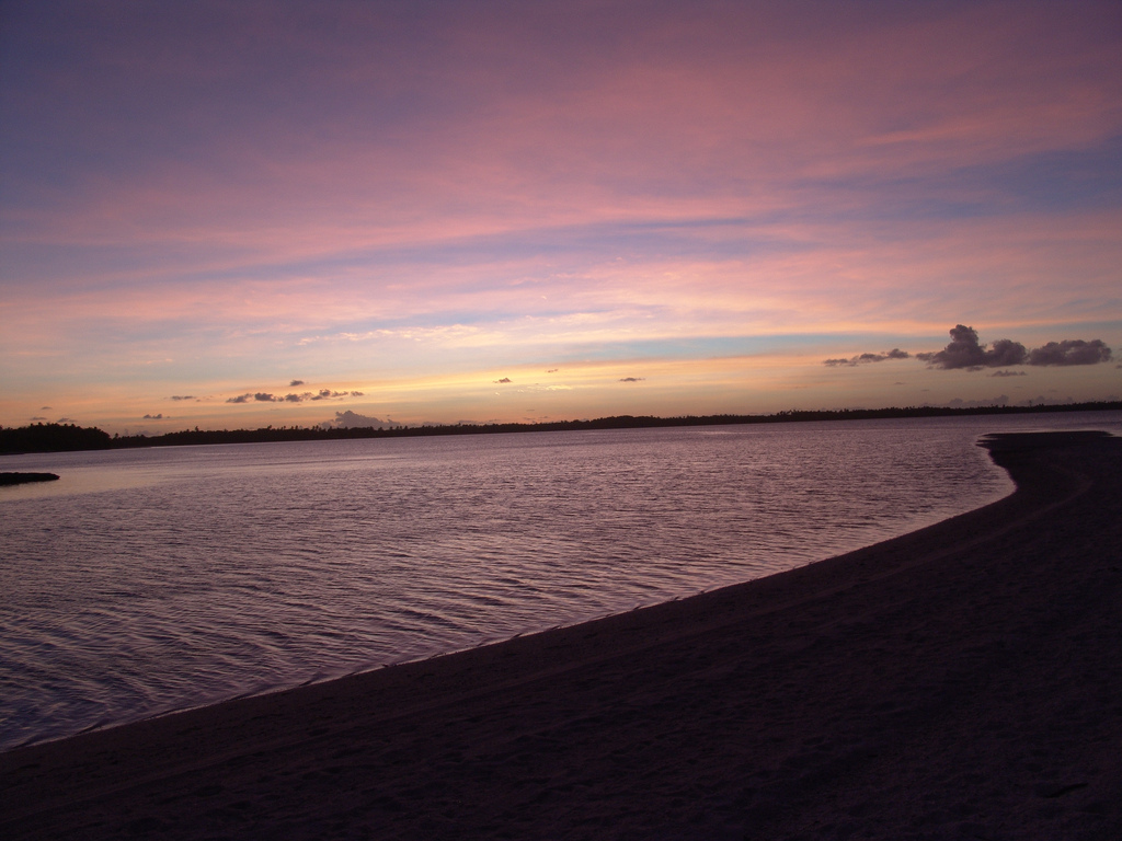 VQ920JC Sunset, Turtle Cove, Diego Garcia Island, Chagos Archipelago.