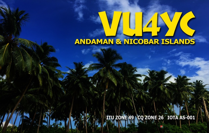 VU4YC Andaman Islands DX Pedition QSL